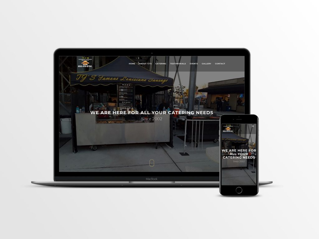 Website Development for Catering Services