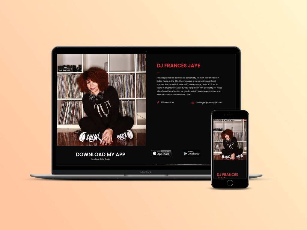 Website Development for Neo Soul DJ