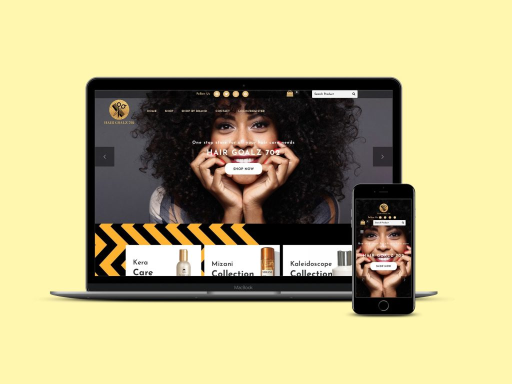 Website Development for Hair and Beauty Products