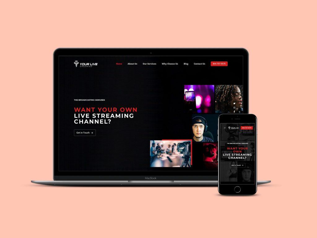 Website Development for Live Streaming Platform